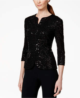 Alex Evenings Sequined Jacket & Top Set