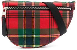 70377ee9b Alexander McQueen tartan print belt bag