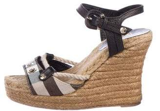 Burberry Beat Check Wedge Sandals