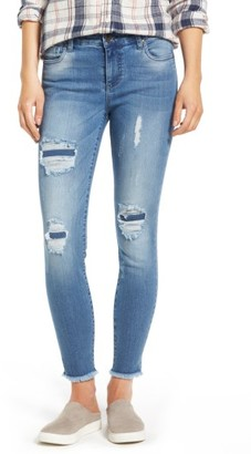 Women's Kut From The Kloth Frayed Hem Repaired Skinny Jeans $89 thestylecure.com