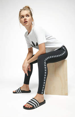 adidas Black Trefoil Taped Leggings