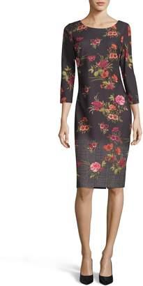 ECI Ombre Print Sheath Dress
