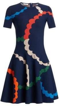 Akris Punto Scallop Print Knit Dress