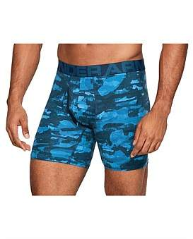 Under Armour Charged Cotton 6In 3 Pack Novelty Trunk