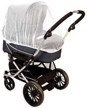 Altabebe AL1500-14 Insect Net, Universal for Classic Pram, Buggy, Stroller, Jogger, Twin-Pram, Twin-Buggy and Travel Cot, White
