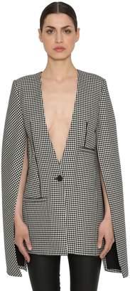 Loewe Tweed Jacket W/ Leather Details