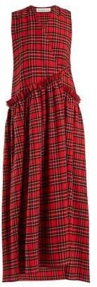 Golden Goose Alba Checked Dress - Womens - Red Multi