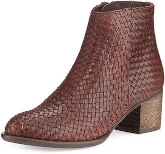 Andre Assous Kaycee Woven Leather Bootie, Cognac $197 thestylecure.com