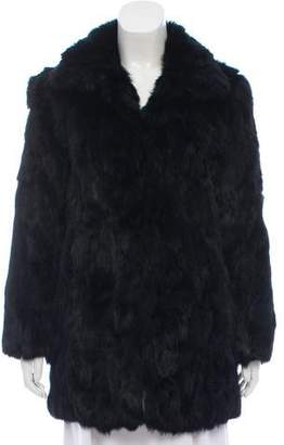 Adrienne Landau Short Fur Coat