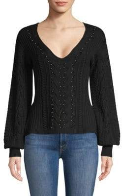 Ramy Brook Claude Wool Beaded Sweater