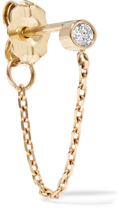 Catbird - Chained To My Heart 14-karat Gold Diamond Earring - one size $140 thestylecure.com