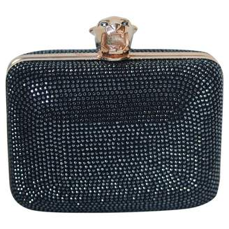 Stark Black Glitter Clutch Bag