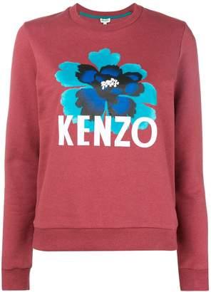 Kenzo flower logo print sweathisrt
