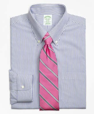 Brooks Brothers Milano Slim-Fit Dress Shirt, Non-Iron Wide Stripe