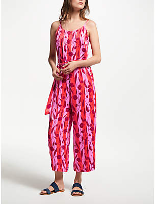 Nümph Charlee Floral Jumpsuit, Red