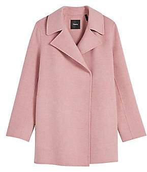 Theory Women's Double-Faced Overlay Coat