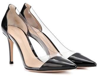 Gianvito Rossi Plexi 85 patent leather pumps