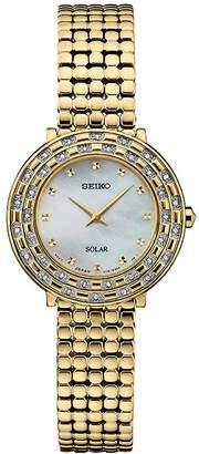 Seiko Women's Goldtone Stainless Tressia Diamond Solar Watch