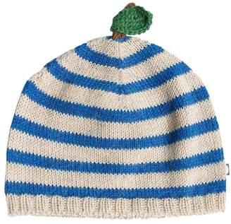 Oeuf Striped Apple Baby Alpaca Knit Hat