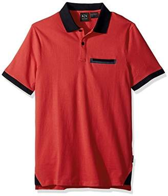 Armani Exchange A|X Men's Short Sleeve Polo Shirt with Back Logo