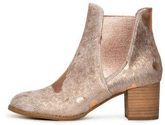Django & Juliette New Sadore Nude&Rose Gold Womens Shoes Dress Boots Ankle