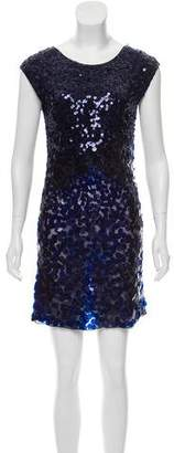 Alice + Olivia Sequined Silk Dress
