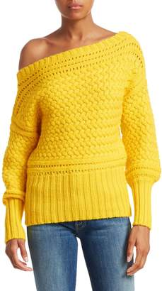Tanya Taylor Marie Off-Shoulder Wool Sweater