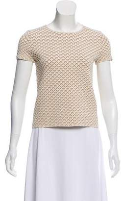 Theory Textured Short Sleeve Top