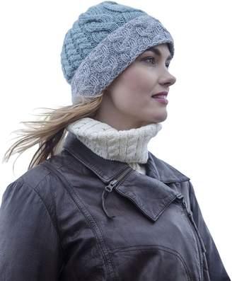 Carraigdonn Carraig Donn Irish Knit Wool Two Tone Hat