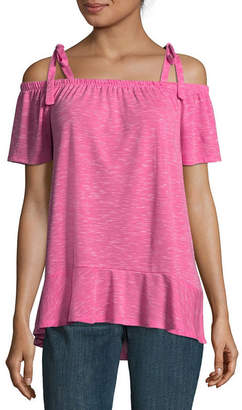 A.N.A Sleeveless Straight Neck Knit Blouse
