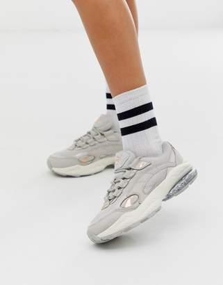 Puma Cell Venom gray patent pop sneakers