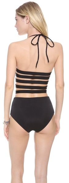 Mara Hoffman Strappy Bustier One Piece Swimsuit
