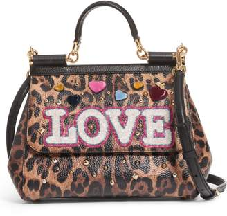 Dolce & Gabbana Medium Miss Sicily - Love Leo Satchel