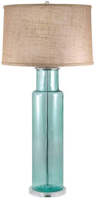 Artistic Home & Lighting Recycled Glass Cylinder Led Table Lamp