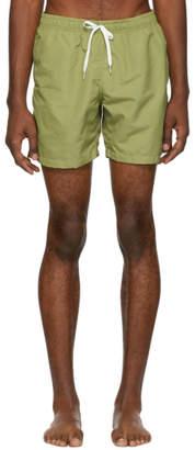 Bather Green Solid Swim Shorts