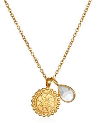 Satya Jewelry Womens Mandala Ruby Birthstone Pendant Necklace 16-Inch +2-Inch Extension