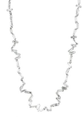 Suzanne Kalan Zig Zag Diamond Necklace - White Gold