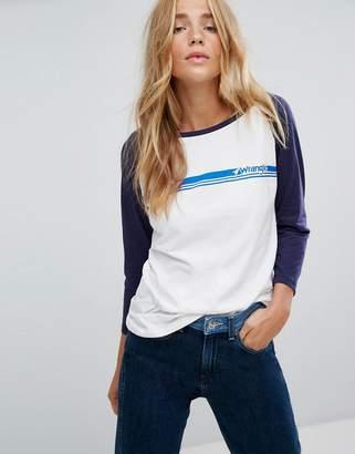 Wrangler Stripe Logo Raglan T-Shirt