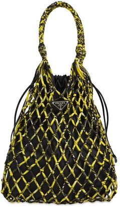 Prada Rete Printed Nylon Netting Tote Bag