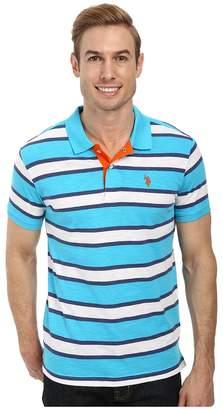 U.S. Polo Assn. Slub Slim Fit Polo Men's Short Sleeve Pullover