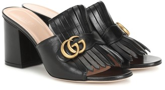 Gucci Marmont leather mules