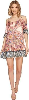 Nicole Miller Women's Mandala Paradise Cold Shoulder Dress