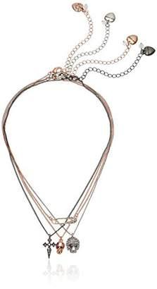 Betsey Johnson Women's Tri-Tone Pendant Necklace