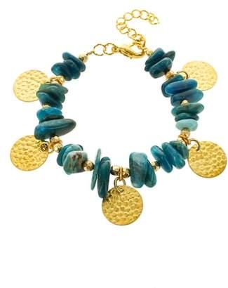 Panacea Chip Stone Disc Bracelet