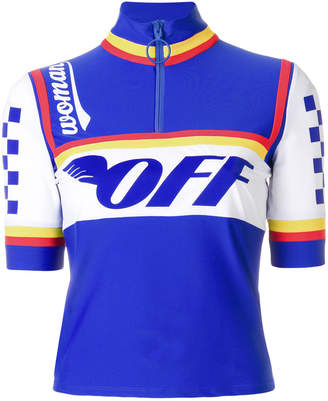 logo printed cycling top
