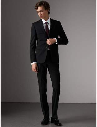 Burberry Slim Fit Wool Trousers