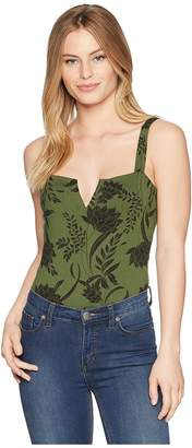 Free People Pippa V-Wire Printed Bodysuit Women's Jumpsuit & Rompers One Piece
