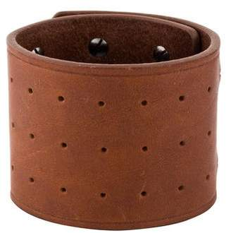 Rick Owens Leather Studded High Cuff