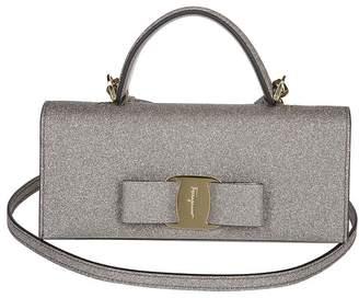 Salvatore Ferragamo Glittered Vara Bow Mini Bag