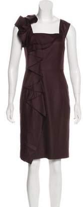 Milly Silk Sleeveless Knee-Length Dress